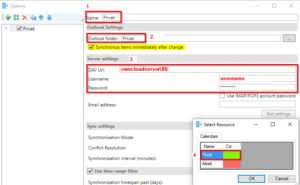 Synchronisierungsprofil in Outlook CalDAV Synchronizer anlegen Step 2